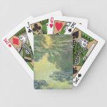 Impresionismo del francés de los lirios de agua de cartas de juego