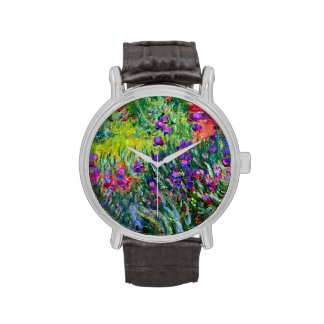 Impresionismo del jardín del iris reloj