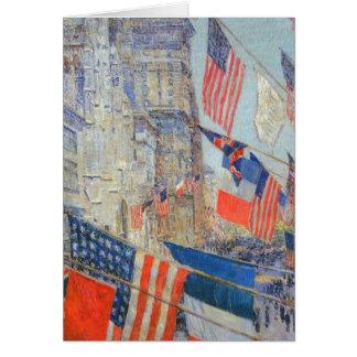 Impresionismo del vintage, aliados día, mayo de tarjeta de felicitación