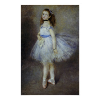 Impresionismo del vintage, bailarín de ballet por póster