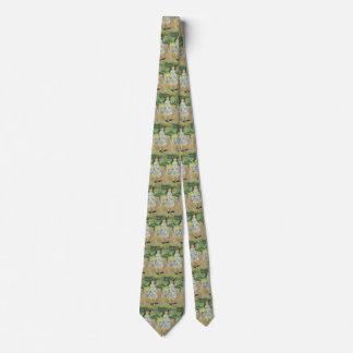 Impresionismo del vintage, chica con el aro por corbatas personalizadas