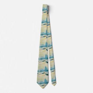 Impresionismo del vintage, cuadrado de la unión corbatas