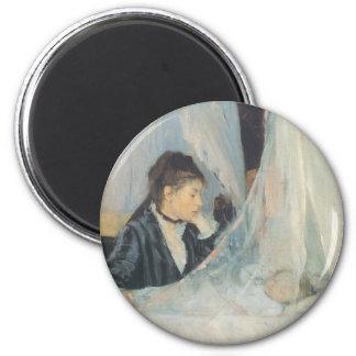 Impresionismo del vintage, cuna de Berthe Morisot Imán Redondo 5 Cm