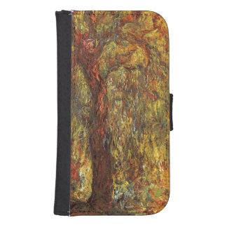 Impresionismo del vintage de Claude Monet, sauce Funda Tipo Billetera Para Galaxy S4