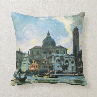 Impresionismo del vintage de Venecia Sargent de Cojín Decorativo