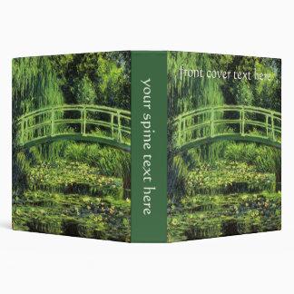 """Impresionismo del vintage, Waterlilies blanco de Carpeta 1 1/2"""""""