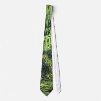 Impresionismo del vintage, Waterlilies blanco de Corbata