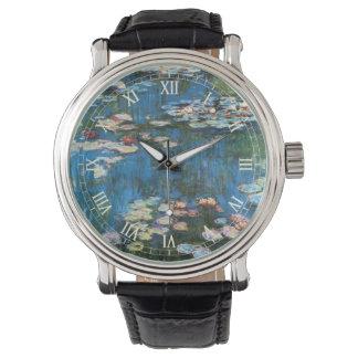 Impresionismo del vintage, Waterlilies de Claude Reloj