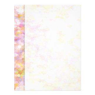 Impresionismo en colores pastel amarillo claro del plantilla de membrete