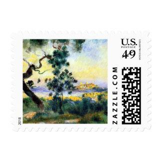 Impresionismo francés del paisaje por el franqueo sellos postales