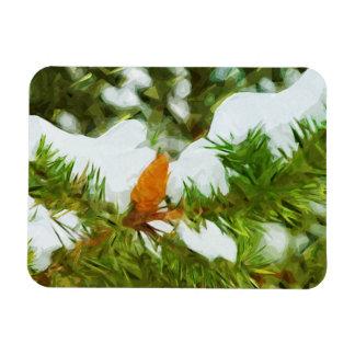 Impresionismo nevado del extracto del pino imán de vinilo