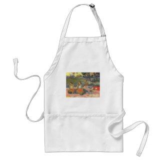 Impresionismo por Gauguin, somnolencia deliciosa Delantal