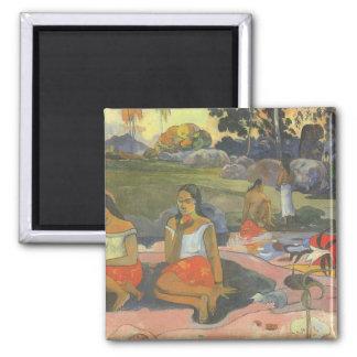 Impresionismo por Gauguin, somnolencia deliciosa Imán Cuadrado