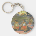 Impresionismo por Gauguin, somnolencia deliciosa Llavero Redondo Tipo Pin