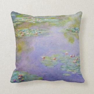 Impresionismo púrpura en colores pastel de los lir almohada