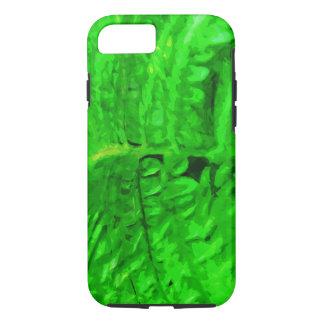 Impresionismo verde del extracto del helecho funda iPhone 7