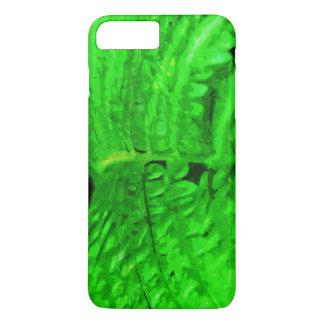 Impresionismo verde del extracto del helecho funda iPhone 7 plus