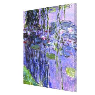 Impresionismo violeta de las reflexiones de la impresión en lienzo