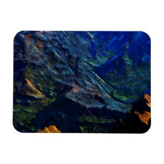 Impresionista abstracto de Kauai del barranco de Imanes Flexibles