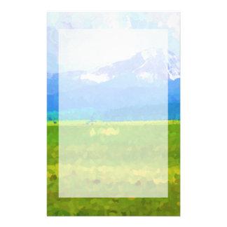 Impresionista de los Colorado Rockies inmóvil Personalized Stationery