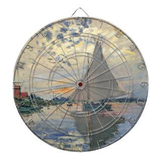 Impresionista del francés del velero de Monet Tablero De Dardos
