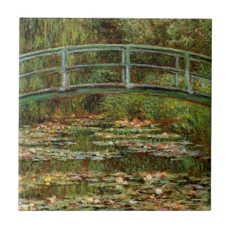 Impresionista japonés francés del puente de Monet Azulejo Cuadrado Pequeño