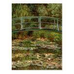 Impresionista japonés francés del puente de Monet Tarjetas Postales