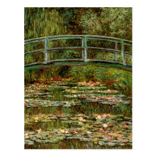 Impresionista japonés francés del puente de Monet Postal