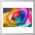 Impresionista subió arco iris póster