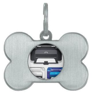 Impresora de oficina placas de mascota