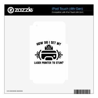 Impresora laser calcomanía para iPod touch 4G