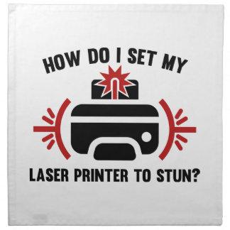 Impresora laser servilleta de papel