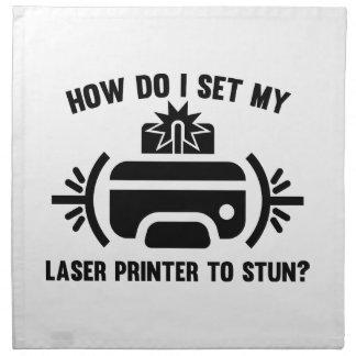 Impresora laser servilletas