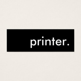 impresora tarjeta de visita pequeña