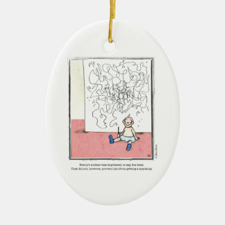 IMPRESSED cartoon by Ellen Elliott Ceramic Ornament
