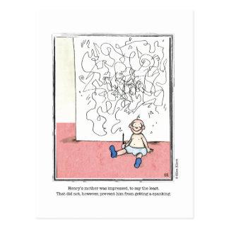 IMPRESSED cartoon by Ellen Elliott Postcard