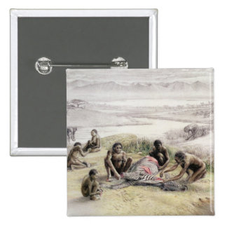 Impression of a camp occupied by Homo habilis Button