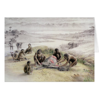 Impression of a camp occupied by Homo habilis Greeting Card