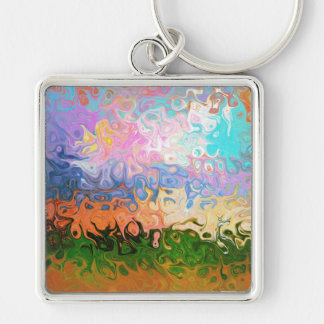 Impression Of Abstraction Abstract Design Keychain