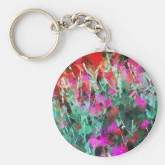 Impression of flowers in garden (2012) keychain