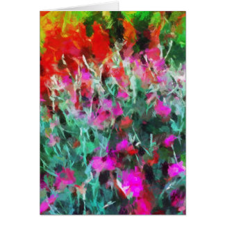 Impression of flowers in garden card