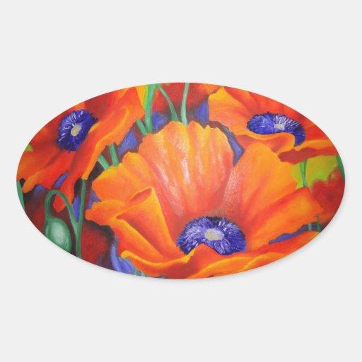 Impression Of Orange Oval Sticker