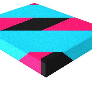 Impression on fabric Bandages Pink Bleu Canvas Print