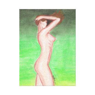 Impression on Fabric (fatty pastel) - 20x28x1,91cm Canvas Print