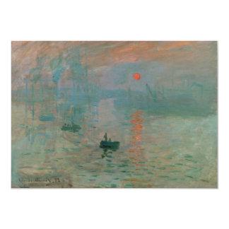 Impression, Soleil Levant by Claude Monet 1872 Card