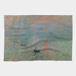 Impression, Soleil Levant by Claude Monet 1872 Kitchen Towels