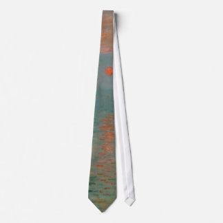 Impression, Soleil Levant by Claude Monet 1872 Neck Tie