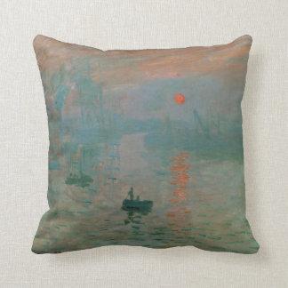 Impression, Soleil Levant by Claude Monet 1872 Throw Pillows