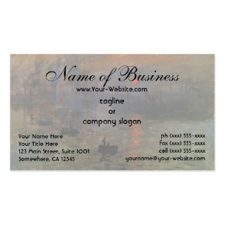 Impression, Sunrise by Claude Monet Double-Sided Standard Business Cards (Pack Of 100)