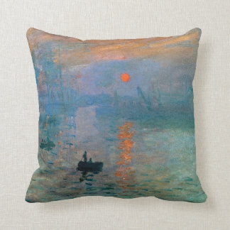 Impression Sunrise by Claude Monet Throw Pillow